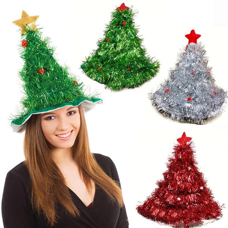 زينة شجرة عيد الميلاد قبعة الأطفال الكبار قبعة الربيع حزب مضحك شجرة عيد الميلاد زي للمنزل