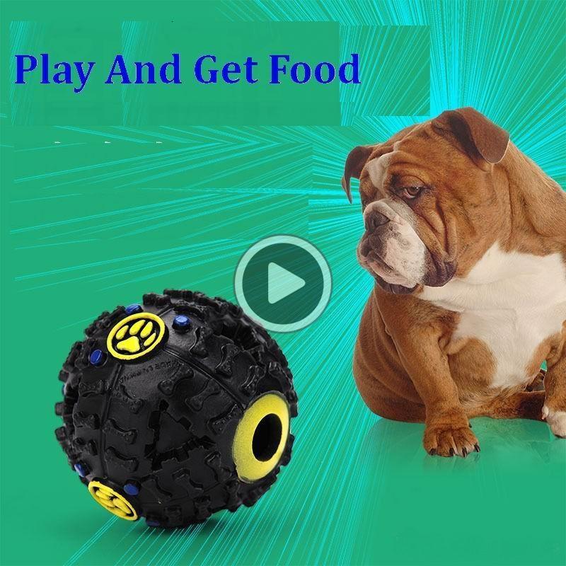 Köpek Oyuncak Pet Köpek Ses top kaçak Gıda Topu ses oyuncak top Pet Köpek Kedi Squeaky Kemikleri Köpek Squeaker Ses Pet ST264 Ricky HINS Malzemeleri