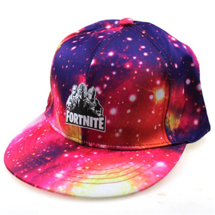 WinFox Baseball Caps stampato Fortnite Hat Uomini Donne Snapback Cap Stampato unisex Stampato Cap Hip Hop Equipaggiata Viaggi Fortnite Cappello Bone Gorra # 578