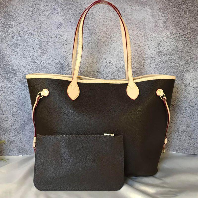 In stock 2pcs/set high qulity classic womens handbags flower ladies composite tote leather clutch shoulder bags handbags purses