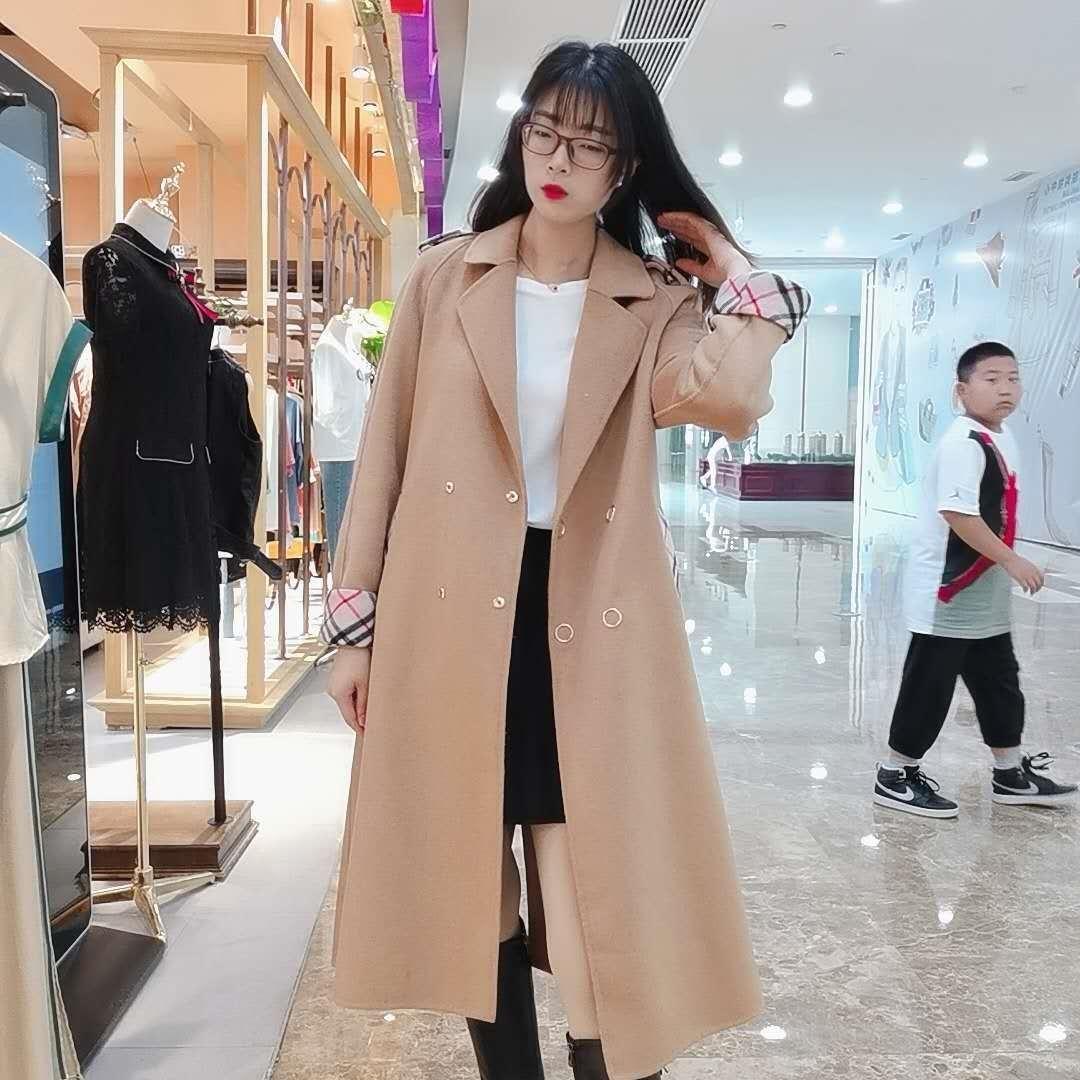 2EYTL стиль качество вне сезона зима пальто Корейской шерсти темперамента шерсть WPZEU длинного рукав отворот прямой трубка пальто шерстяных женщин