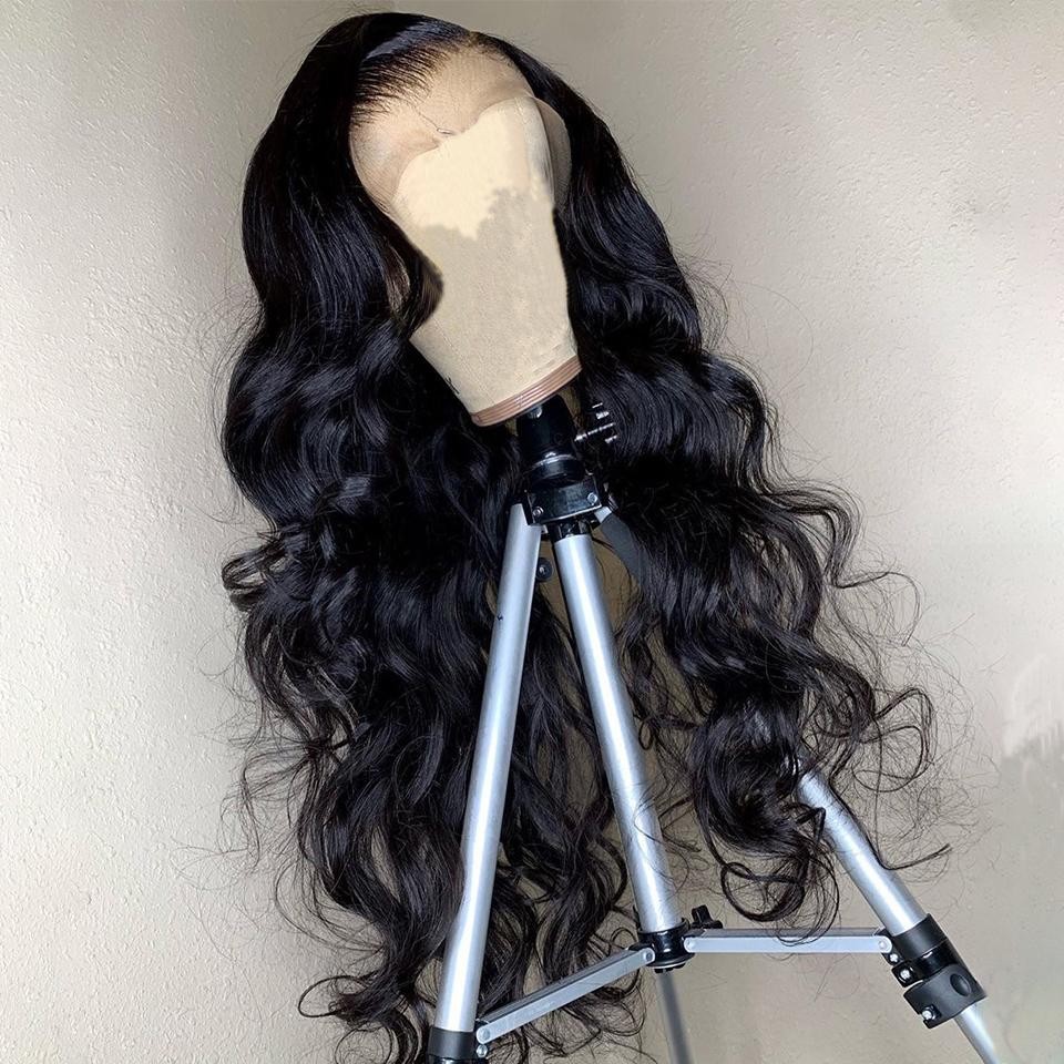 2020 Newest Type Body Wave 150% 13x4 Lace Front Wigs Peruvian Remy Human Hair Pre Plucked With Baby Hair Wigs For Black Women