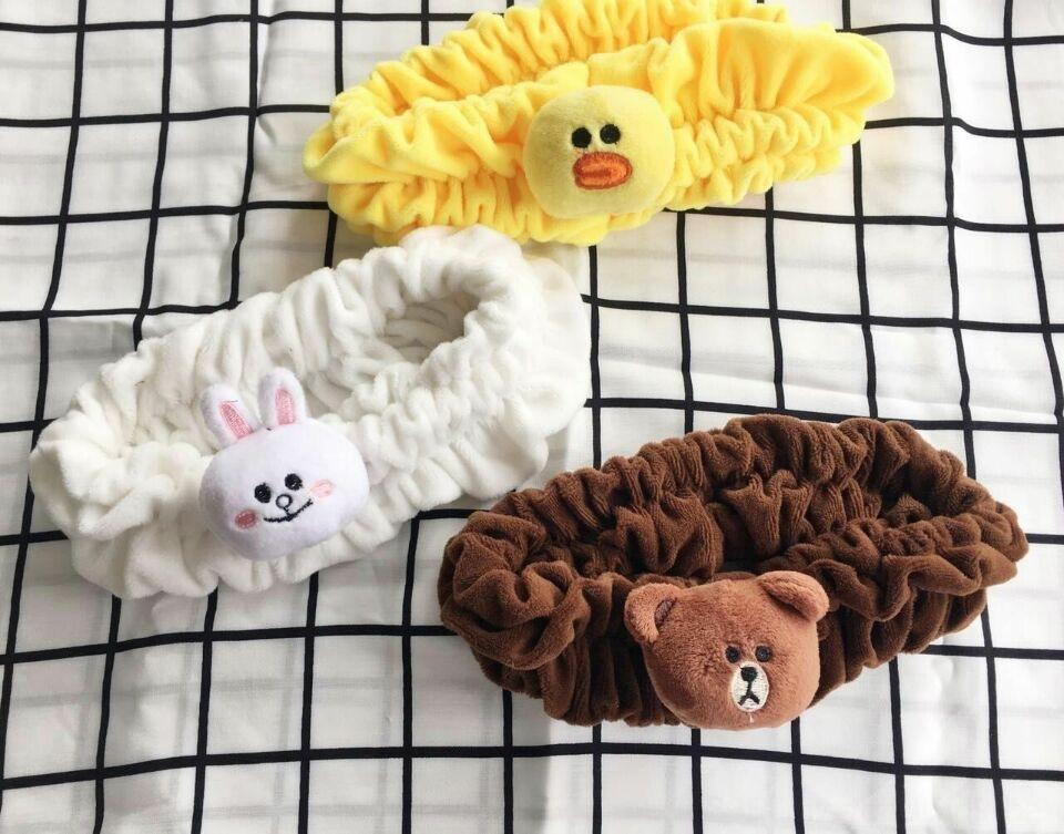 Korean Abdeckung nette kleine Gesichtsband Kaninchen Bärenband Gesicht zu waschen Maske waschen Make-up Maske Sport Haare nett Haarschmuck vEvnF