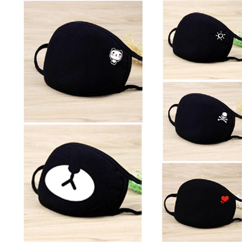 мода черной маска РМ2,5 хлопка маска для лица пыла дышащей секс сердце череп регулируемой защитной маски