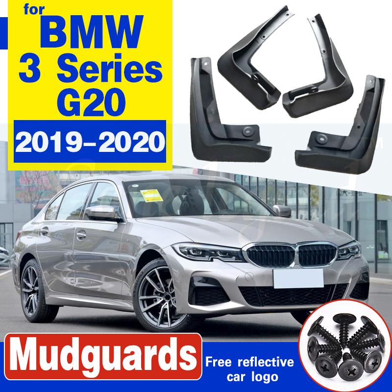 Avant et arrière Bavettes voiture pour BMW Série 3 Berline G20 Berline 2019 ~ 2020 Fender boue Garde Flap Splash Rabats Accessoires Garde-boue
