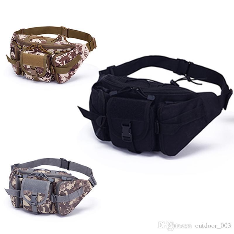 Sports de plein air sac de taille grande capacité valise tactique Pockets Équitation Voyage Courir multi-fonction Sac Chest Sac camouflage hommes