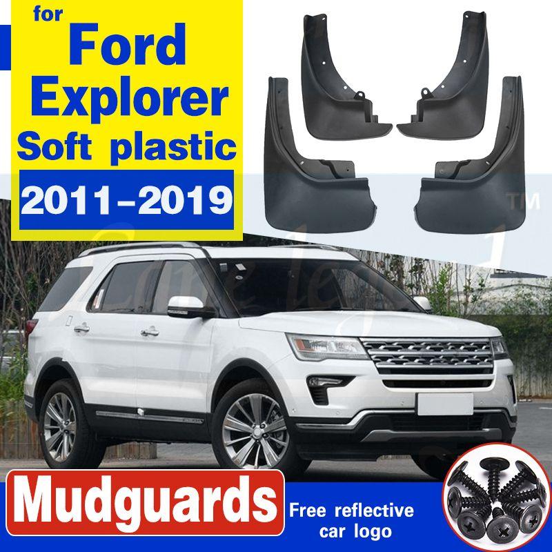 4pcs Auto-Front hintere Verbreiterungen Spritzschutz Schmutzfänger Schmutzfänger Schmutzfänger für Ford Explorer 2011-2019