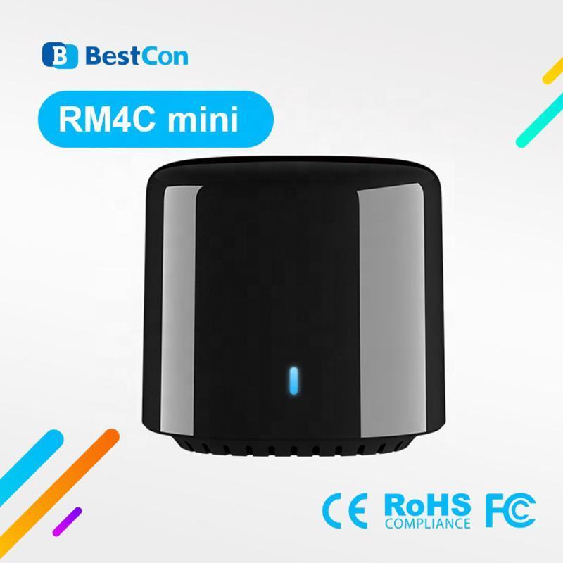 Controladores remotos Est BroadLink RM4 mini 2021 con RM4C Universal 4G WiFi Controle IR Compatível Alexa Google Início para AC