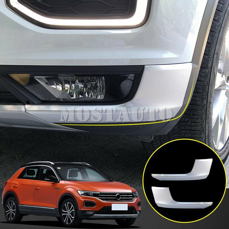 Für Volkswagen VW T-Roc 2017-2018 ABS Matte Frontstoßstange Lip-Abdeckungs-Ordnung 2pcs