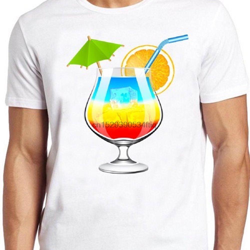 Arco-íris Cocktail T Shirt Hawai do Orgulho LGBT Gay Presente engraçado Soho Londres T 337
