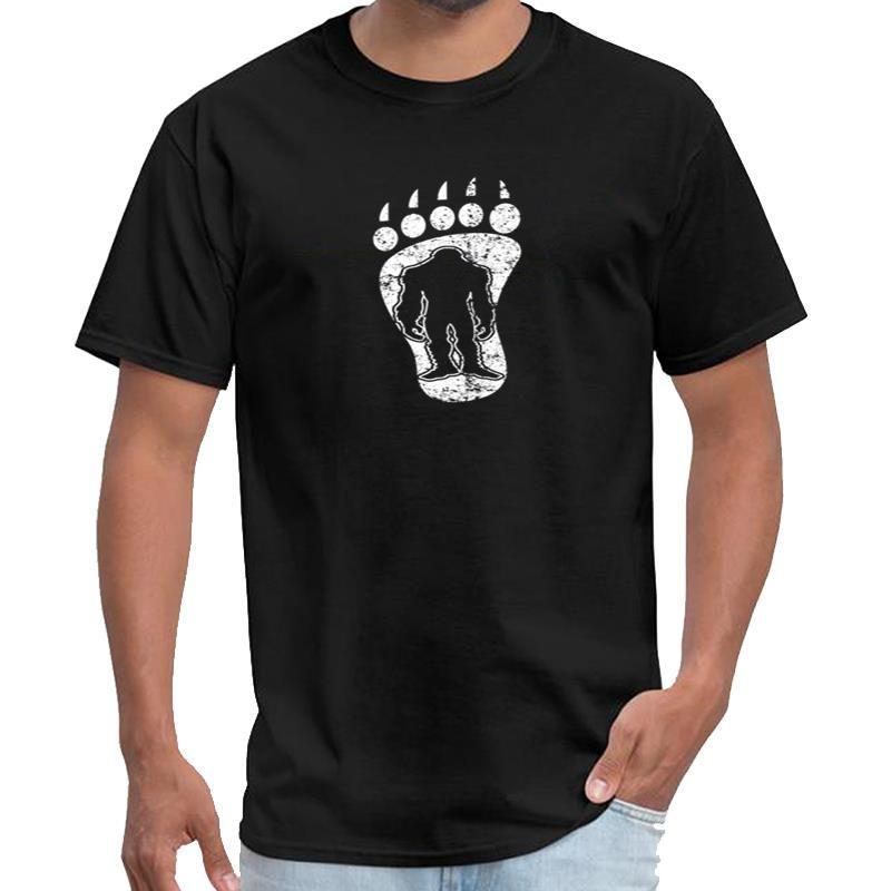 Печатных Bigfoot Трека Footprint Снежного Streetwear тенниски Ьотта том закоулок тенниска плюс размеры s-5xl хип-хоп