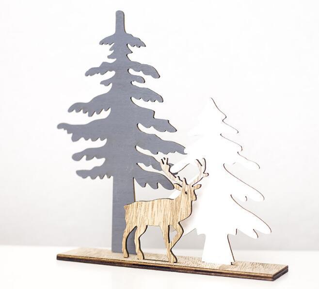 Decoration calda casa di festa di legno di natale della renna Per la casa Splice Cervi di natale degli ornamenti del regalo dei bambini per la casa Decorazioni di Natale del partito