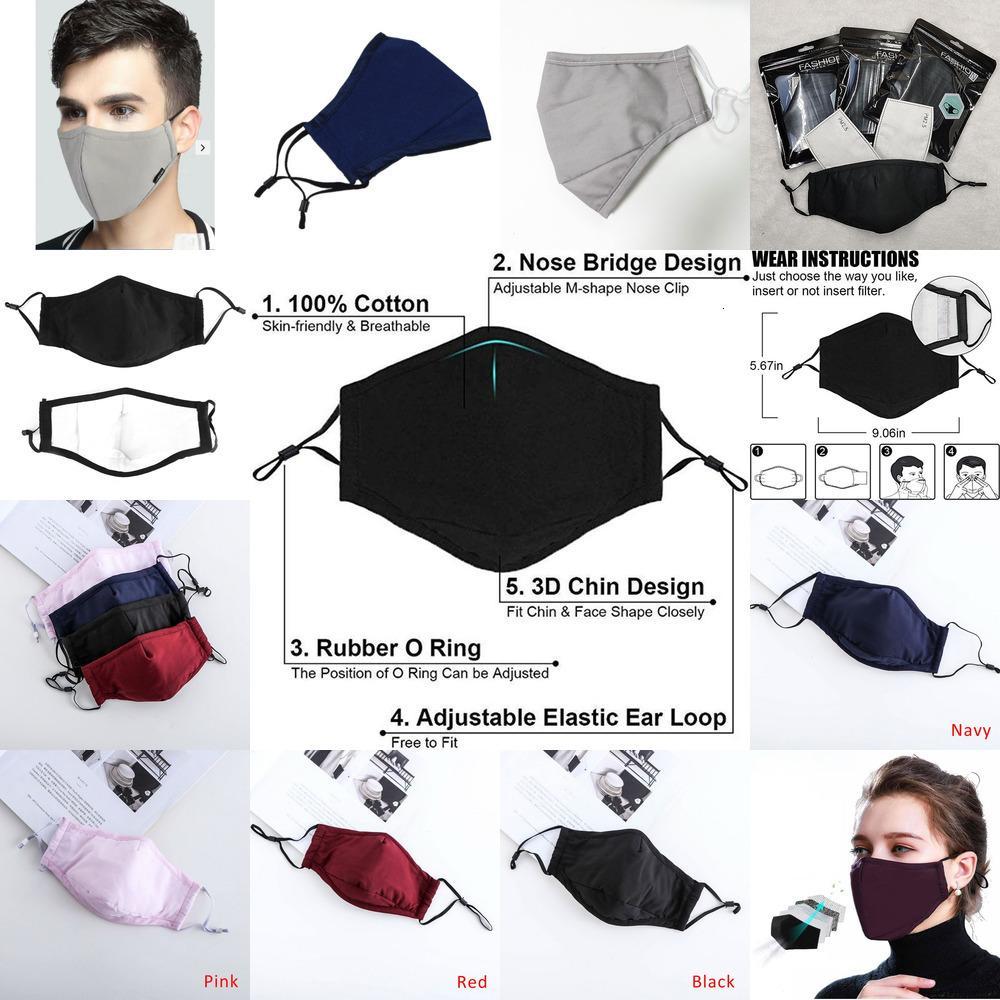 Envío lavable PM2,5 Máscara de filtro gota anti smog Olor algodón personalizada polen boca del polvo de cara Ma 0NWE