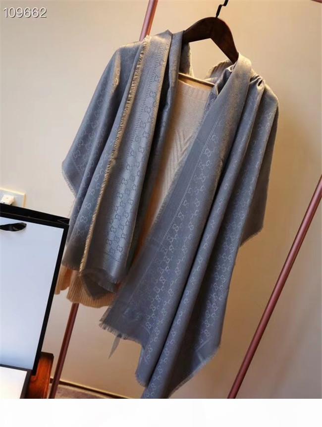 Doble la parte superior de seda del hielo de la bufanda de la gasa de las mujeres suaves avanzada Telas bufandas de lujo de la impresión de seda larga del mantón Tamaño 65cm-180cm Añadir Paperbag