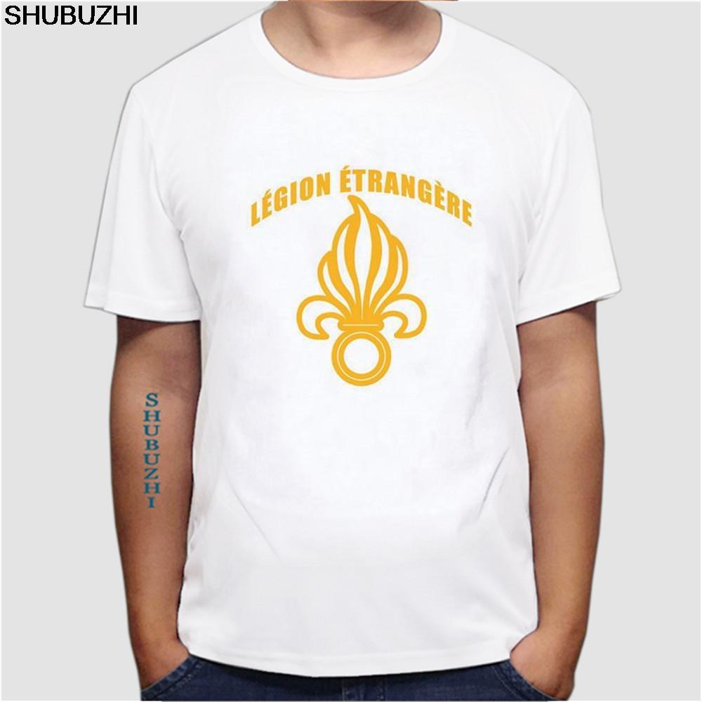 T T-shirt estiva O-collo di modo casuale di alta qualità Nuovo Legione straniera francese Etrangere Forze armate francesi formato della maglietta di euro