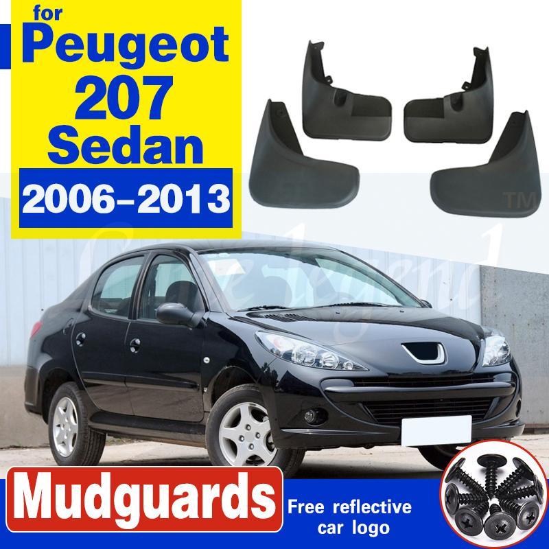 4pc voiture avant bavettes arrière BOUE Garde-boue Fender pour Peugeot 207 berline 4 portes 2006-2013 Accessoires voiture Bavettes