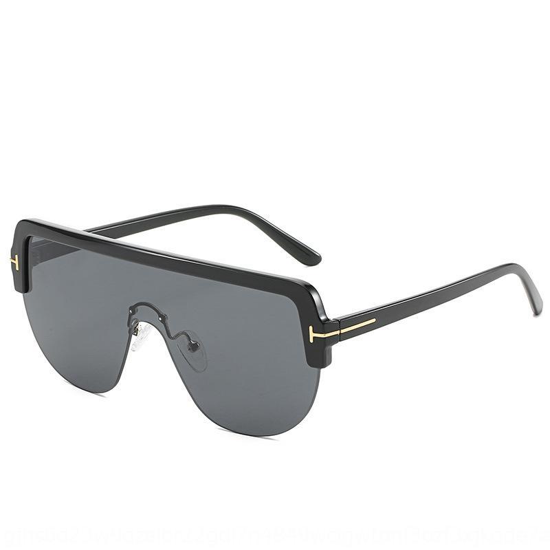 Yeni büyük çerçeve tek parça güneş aynı stil güneş gözlüğü yıldızı moda moda Gözlük T şeklinde IGNXB