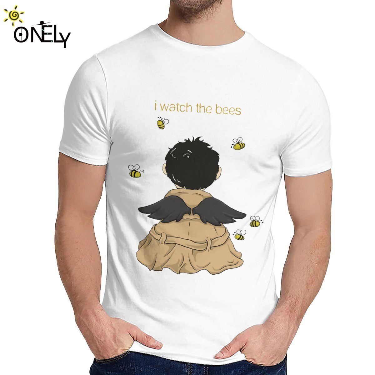2019 Сверхъестественной футболка Spn Brothers Angel I Часы Пчела Homme Tee Shirt Unisex