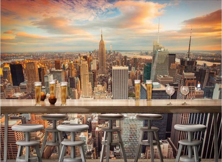 3D-Raum Tapete High-End-kundenspezifische Wandvlieswandaufkleber 3 d New York Stadtbild 3d Wand Raumtapeten Anstrichtapete