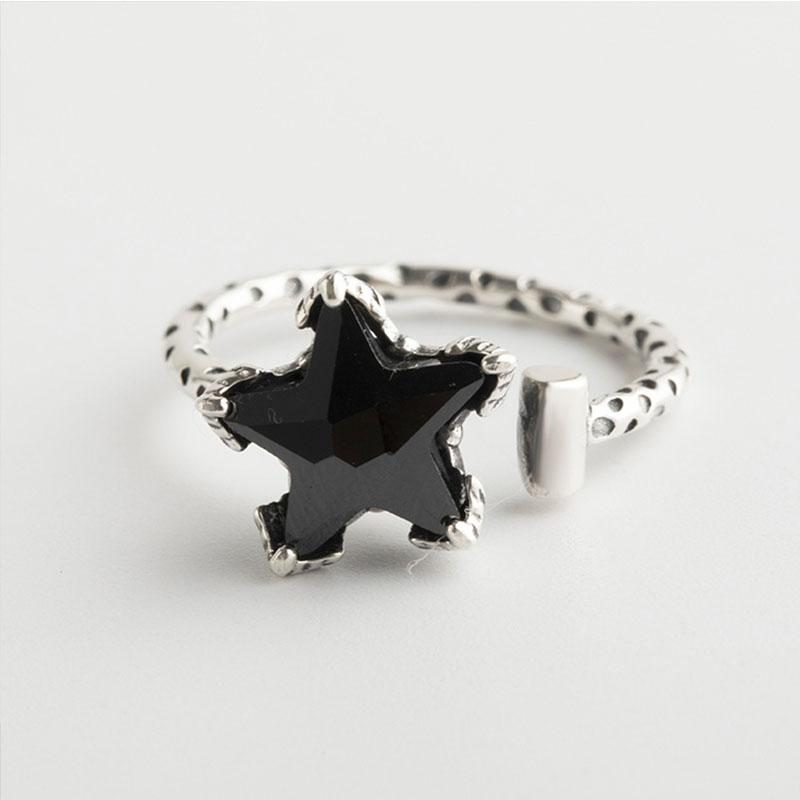 nuovi orecchini ad anello e ciondolo stella aperti Elegante luce lusso S925 argento per gioielli boutique anniversario delle donne