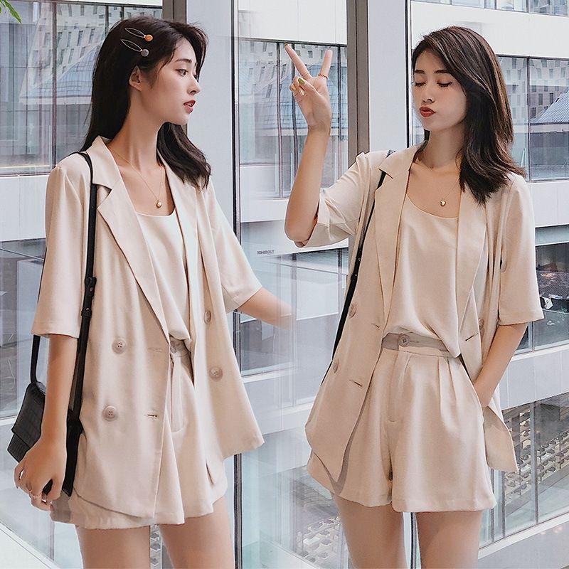 One-click compras terno / verão terno colar de moda casual temperamento saia curta manga curta saia simples all-jogo ePVg5