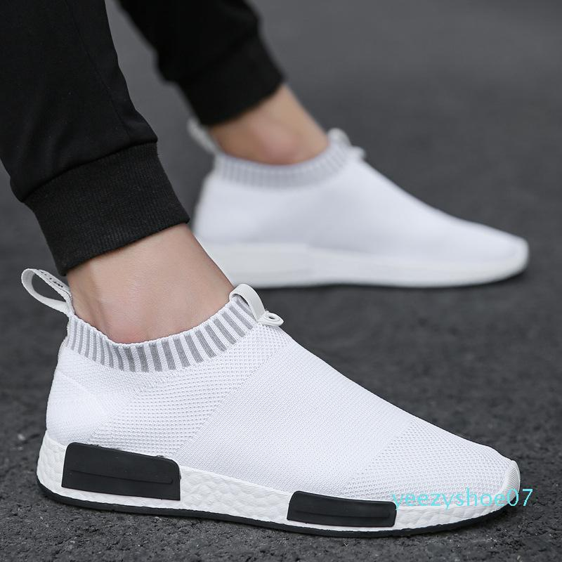 Mens Fashion Walking Sock Shoes Lightweight Air Mesh Slip-on Breathable Sneakers Casual Mesh-Comfortable Work Shoes, EVA Loafers y07