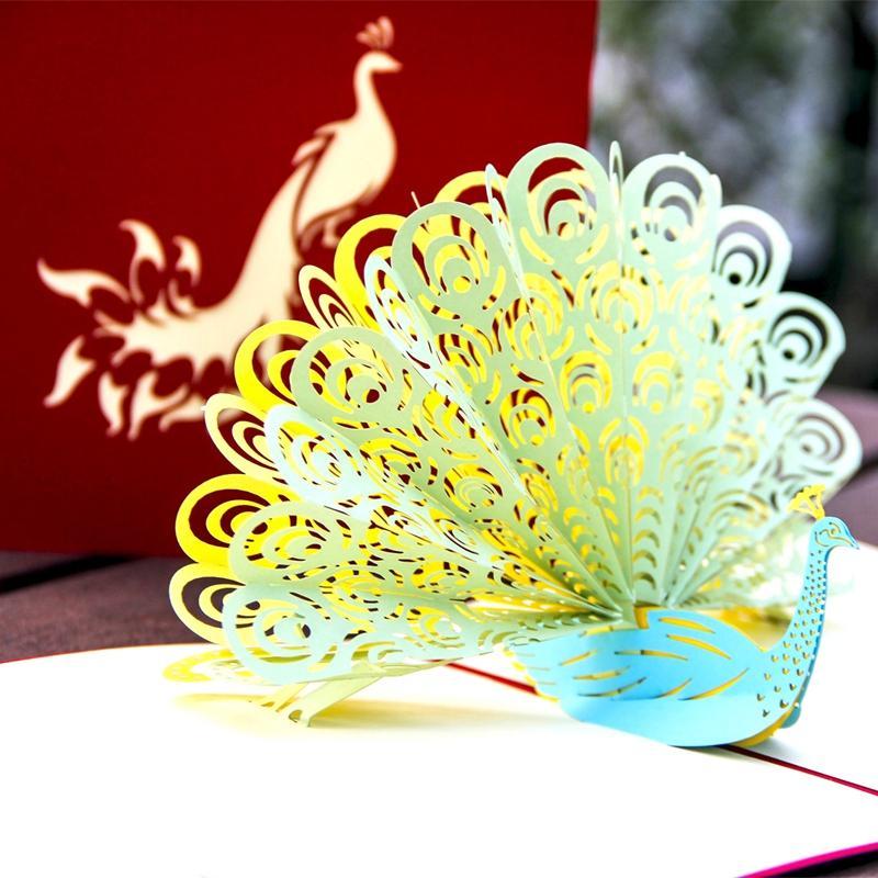 3D المنبثقة بطاقات المعايدة مع مغلف بطاقات دعوات هدية للمعلم للأطفال