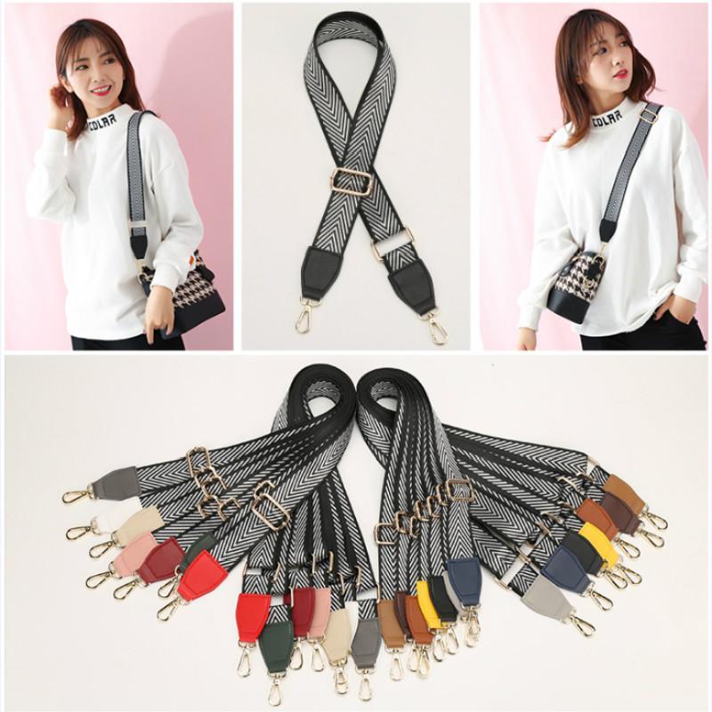 3.8CM على نطاق واسع حقيبة حزام قماش النايلون القطن حزام الكتف حزام السهم الشريط حقيبة اكسسوارات قابل للتعديل 140 ~ 88