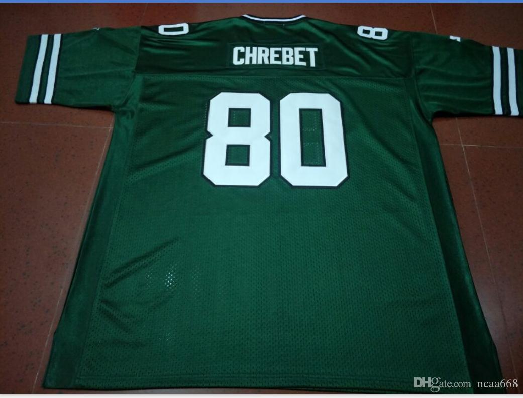 Özel Erkekler Gençlik kadınlar Vintage 1997 Wayne Chrebet # 80 Futbol Jersey boyutu s-5XL veya özel herhangi bir ad veya numara forması