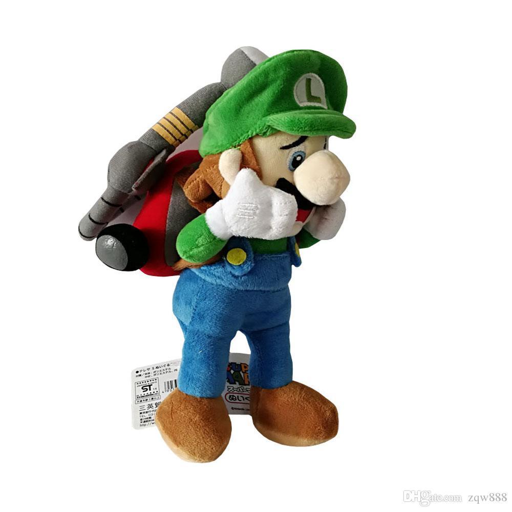 Alta qualidade 100% algodão de 9,8 polegadas 25cm Mar Bros Horror Luigi Plush Toy Para crianças Presentes de feriado NOMA018