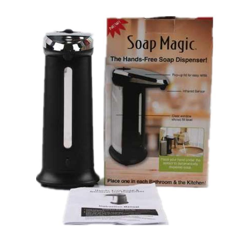 Jabón del sensor 400 ml gratuito desinfectante Shamppp cocina dispensador del gel sin contacto de líquido automático dispensador de la bomba Ministerio del Interior por