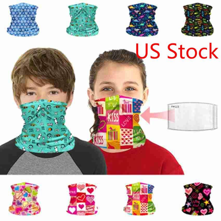 3-7 Days Delivery 10 Pcs Children Face Mask Kids Protective Mask Outdoor Cycling Magic Scarf Bandana Headband Bandanas Turban