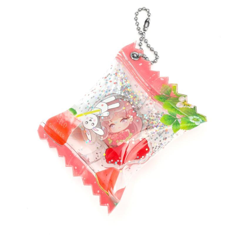 Vograce MOQ 20pcs акриловые красочные конфеты надувная брелок очарование