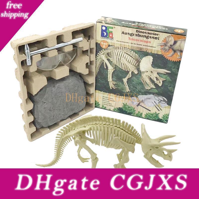 Fouilles archéologiques Jouet Styling Nouveauté Triangle 3D Dragon Puzzle Stereo Effet Diy Enfants S Jouets éducatifs