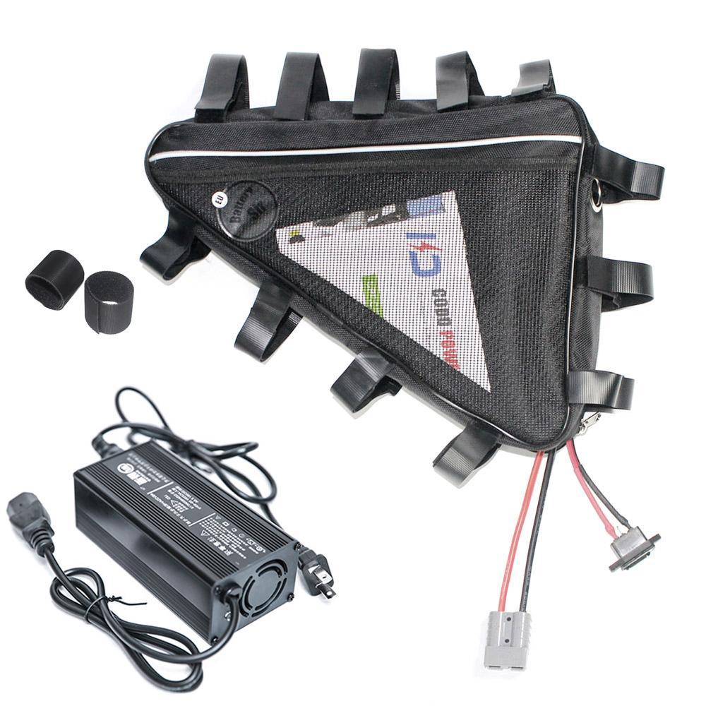 لا ضريبة 72V 21Ah ليثيوم أيون بطارية eBike 3000W سكوتر الكهربائية حزمة مع 50A BMS 84v 7A شاحن حقيبة المثلث الحرة