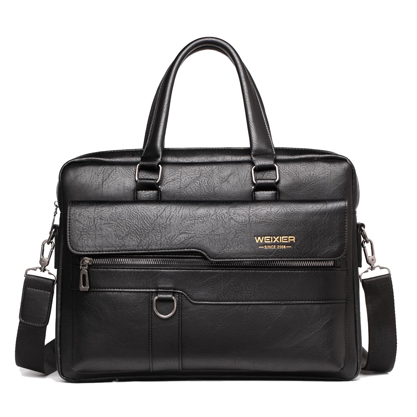 saco Crossbody Ombro Bolsa de Negócios Men Messenger Bag Marca WEIXIER vintage PU de couro para homens Moda Casual Man Bolsas