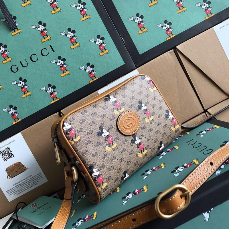 Canvas shopping bag 7A high-end quality light brown leather piping details give a retro look to the classic look with embroidered stickers