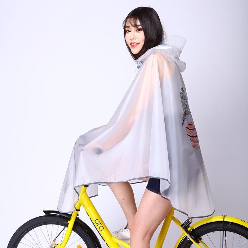 ucfpH Regenmantel Stil und weiblichen Mantel Fahrrad einzelne Schüler Radfahren Fahrrad Berg Mode Fahrrad koreanischen männlichen transparenten reflektierenden Streifen