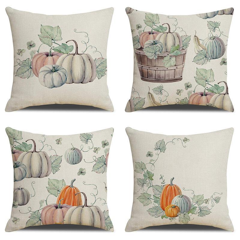 1x Happy Halloween Pillow Cases Fall Sofa Pumpkin Throw Cushion Cover new