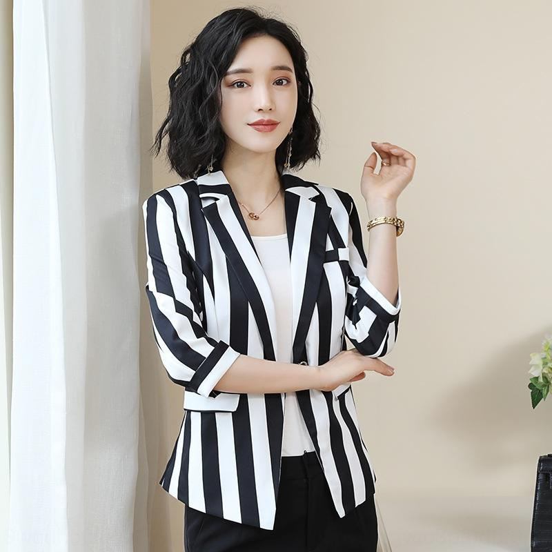 VZRvB Small Anzug 2020 Frühjahr und Sommer der koreanischen Art Frauen Temperament beiläufig gestreift Mantel anmutige trendy professionelle Jackett Frauen