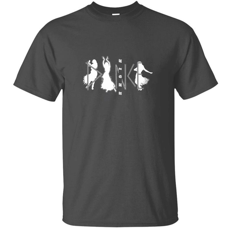 Dança Impresso louco camisetas Para Mens Kawaii divertida Crew Neck Gents Lazer Homens e Mulheres Camisetas 2019 de manga curta