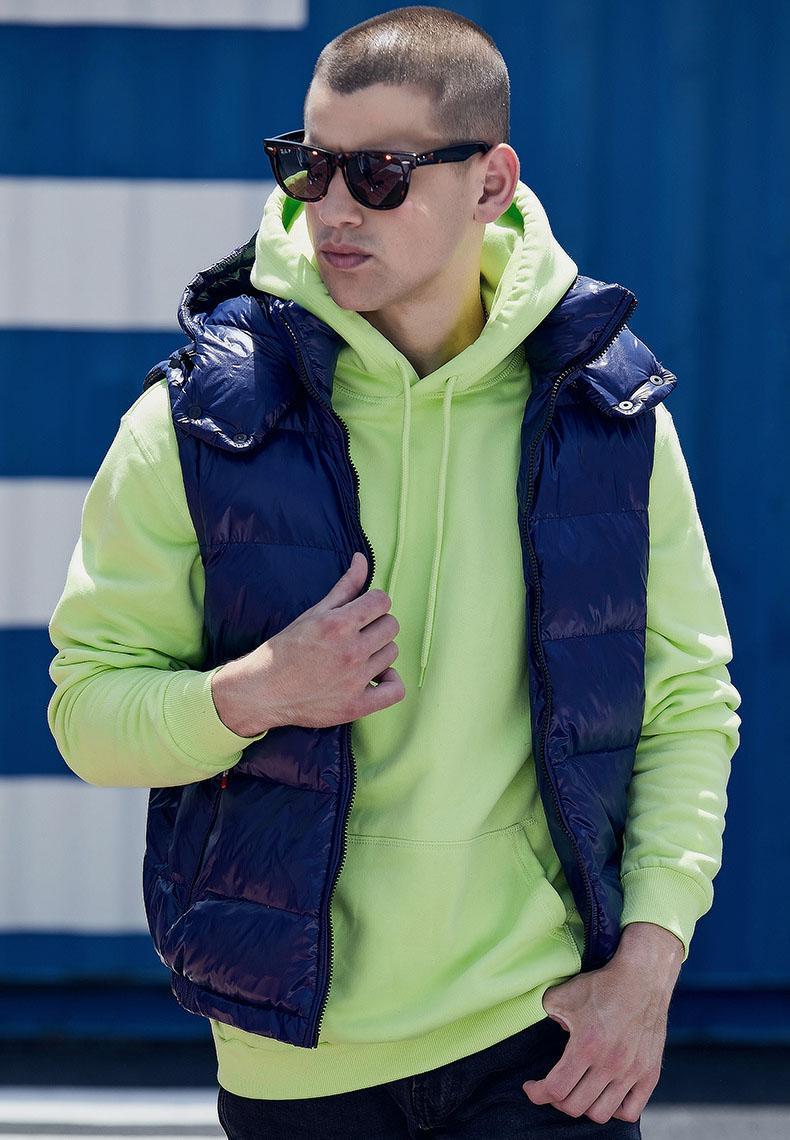winter warm hooded vest coat for men high quality patch vest yellow black red blue coat jackets feather cotton overcoat parka vest
