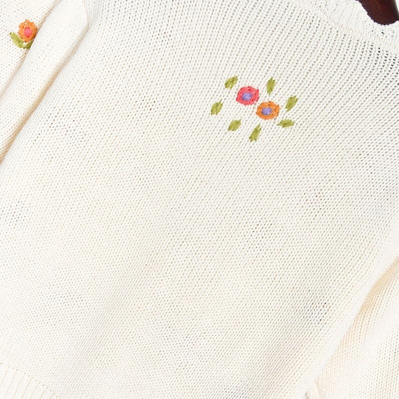 EN3PN 20 novo verão bordados pastoral floral bolha manga V-neckshort ondulado manga malhas bordado malhas para as mulheres Z20468