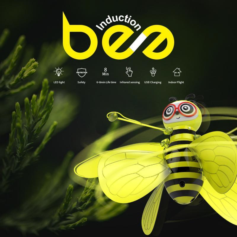 Mini Bee Drone UFO télécommande Jouet RC animaux Avions Jouets enfants Dropship RC Helicopter Fly balle jouet pour les cadeaux d'anniversaire vont