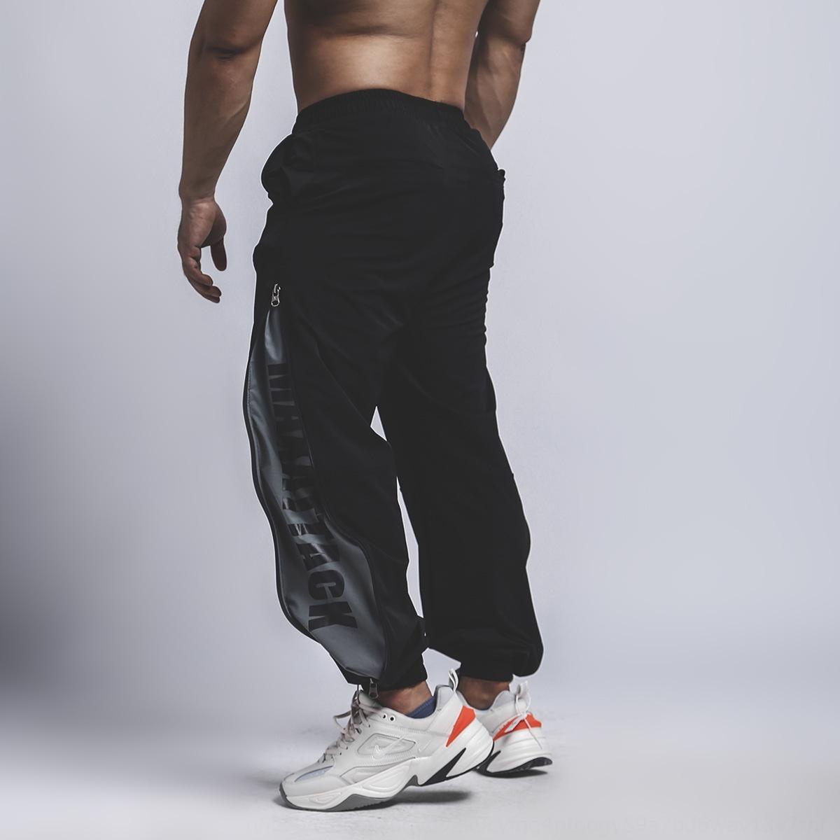 хоп рыхлой фитнесс мужские осенне-зимней моды марки свободные бедра поножи широкий широкие брюки спортивные брюки спортивный ноги ногу MAXATTACK FB2fe