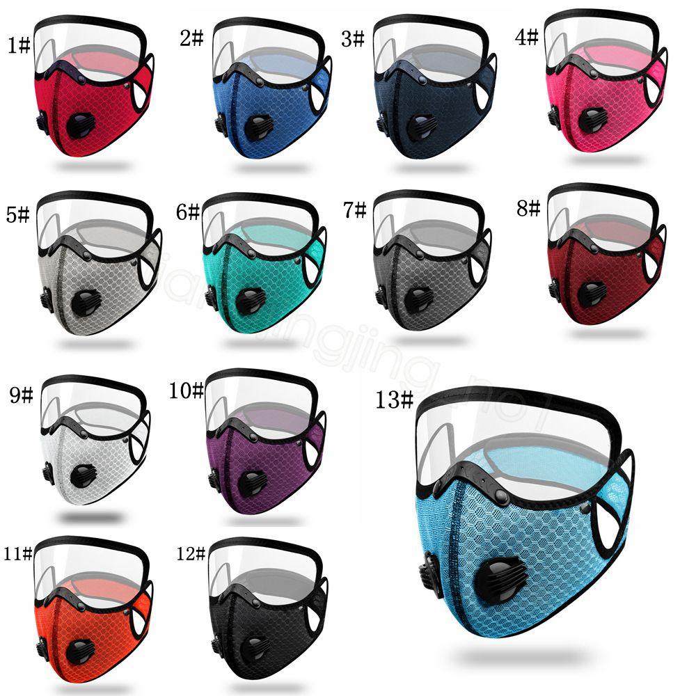 Bicicleta de doble válvula clara máscara puede poner filtro de carbón activado de bicicletas a prueba de polvo al aire libre resuable cubierta protectora FFA4337 boca desmontable