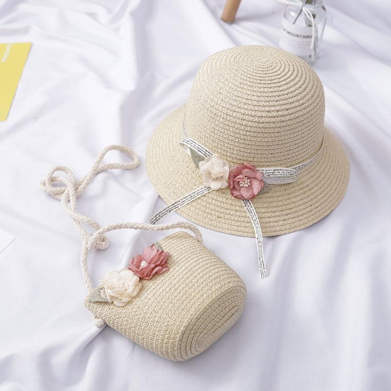 palha filhos dos filhos Balde pescador Straw verão fresco das meninas chapéu da princesa praia sol bebê chapéu de sol de pescador