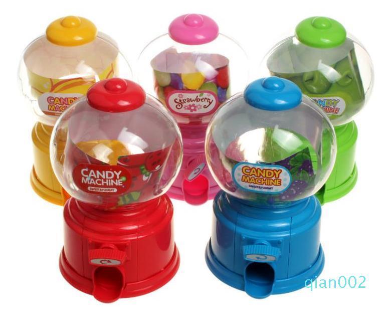 Plástico mini pequeño caramelo de la máquina de Gumball de la burbuja dispensador de monedas del Banco niños de juguete Para Gumballs cacahuetes caramelo pequeño y aperitivos SN4224
