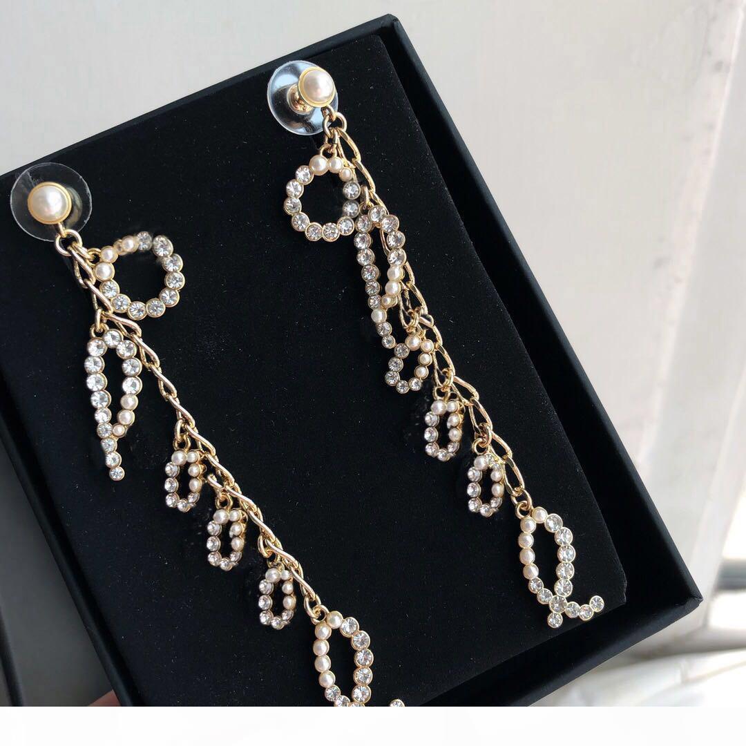 Modemarke Have Briefmarken R Brief Designer Ohrringe für Dame Design Frauen-Partei-Hochzeit Engagement Luxuxschmucksachen für die Braut mit BOX