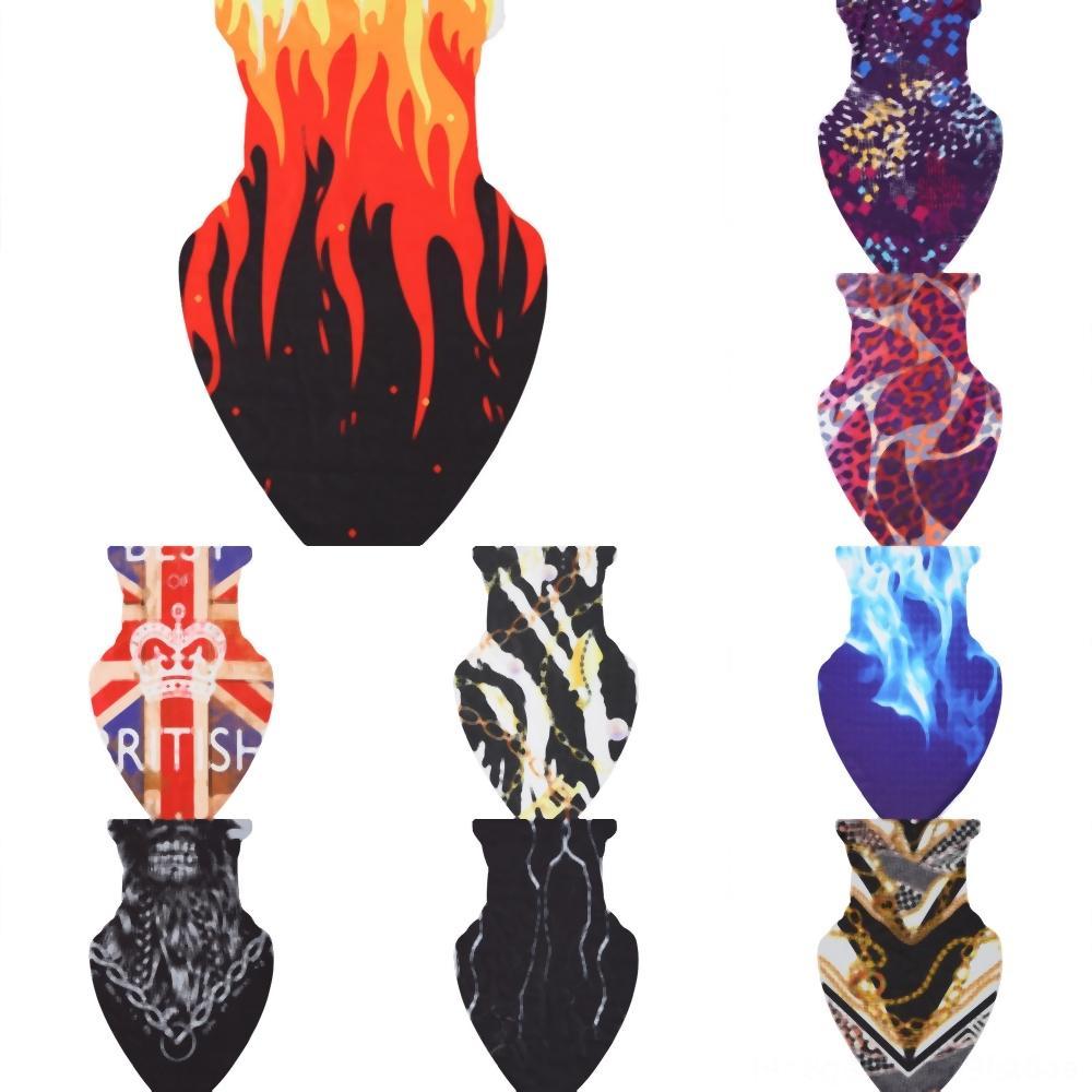 Yüz buz ipek Maskesi Bisiklet Eşarp Butterfuly Çiçek Baskı üçgen Yüz Bandana Spor Maskeler Üçgen Eşarplar Fonksiyonlu Toz 8RCTN baskı